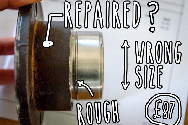 campervan-oil-leak-fixing-pinion-flange-metal-sleeve