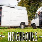 Van tour: He lives by the woods in his £1500 van – in England – in winter