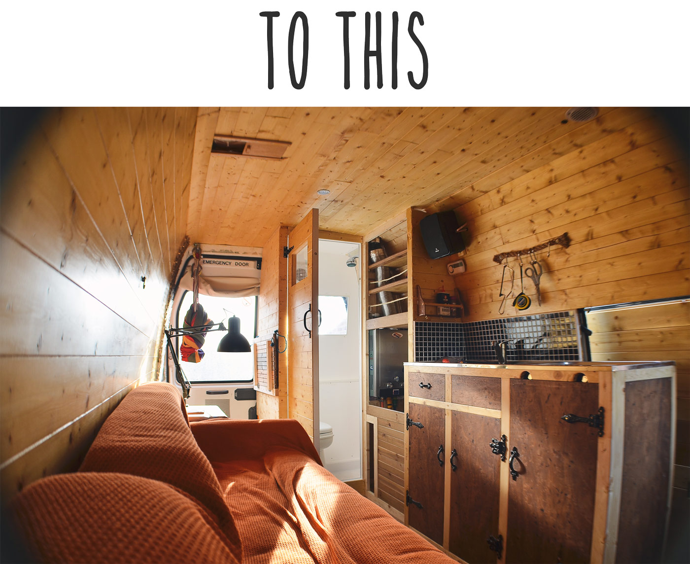 camper van after conversion